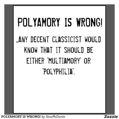 Polyamory is wrong