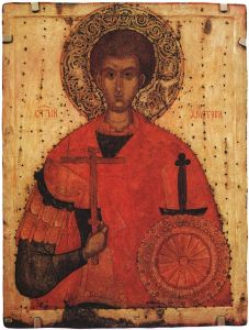 St Demetrius of Thessaloniki (15th century icon)