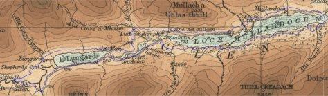 Old and new Mullardoch shorelines