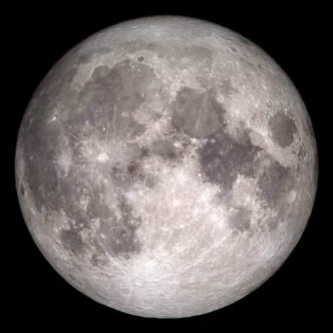 NASA LRO full moon