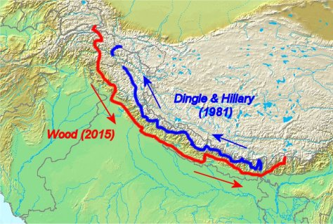 Comparison of Himalayan traverses by Wood and Dingle & Hillary