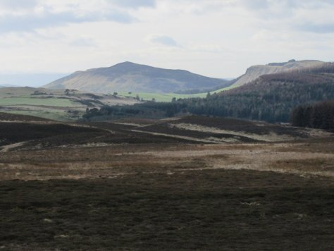 King's Seat and Gask crags from Smithton Hill