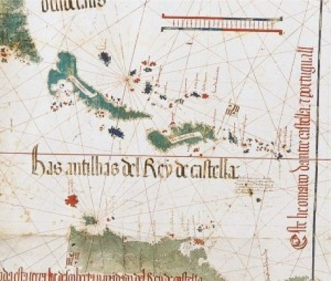 Detail from the Cantino planisphere