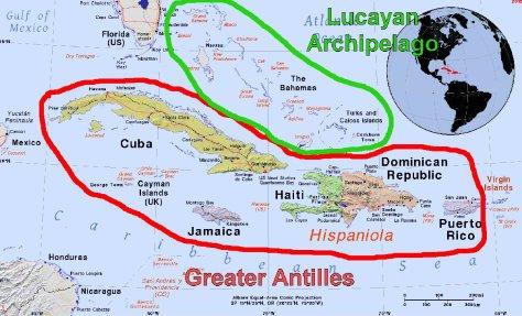 Greater Antilles & Lucayan Archipelago