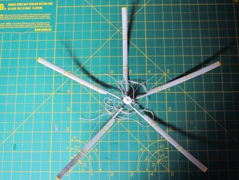 Sea King rotor under construction