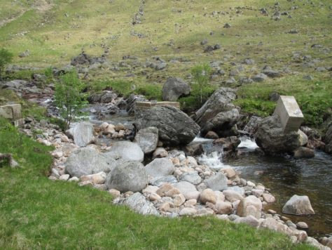 Remains of the bridge, Glen Clova