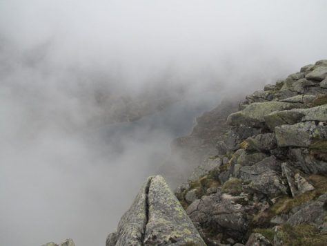 A glimpse of the Dubh Loch from Creag an Dubh-Loch