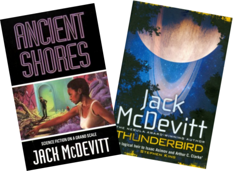 Covers of Ancient Shores & Thunderbird, Jack McDevitt