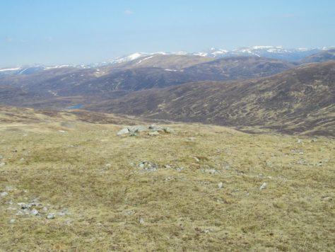 View north from north end of summit ridge, Beinn Mheadhonach