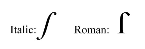 Long s in Italic and Roman typeface