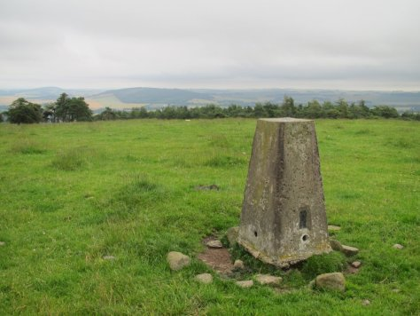 Trig point on Kincaldrum Hill