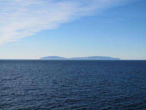 Cape Dezhnev from Big Diomede