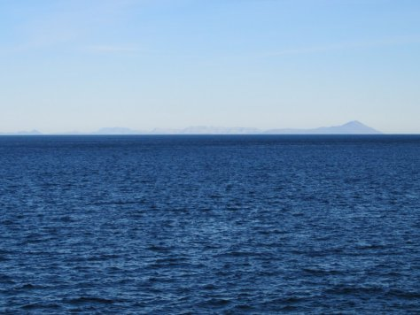 Alaska and Little Diomede from Big Diomede