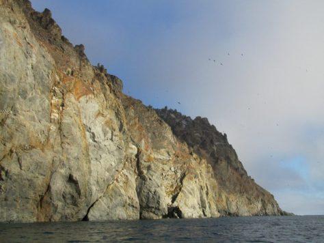 Herald Island cliffs