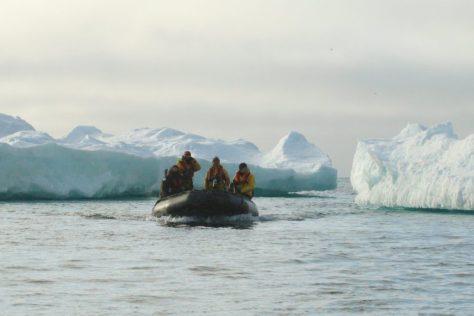 Among ice floes, Herald Island