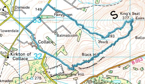 Dunsinane - King's Seat route