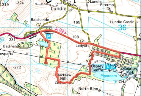 Route on Blacklaw Hill