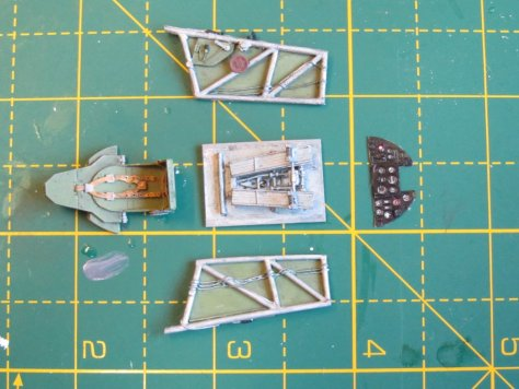 Aires 1/48 Hawker Hurricane cockpit parts