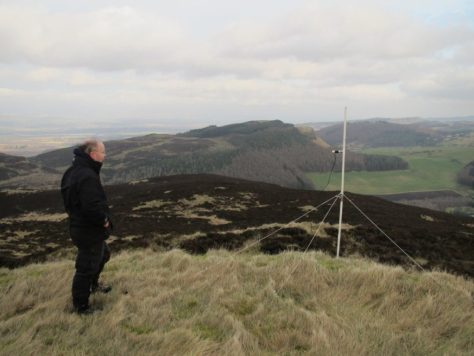 Amateur radio on King's Seat