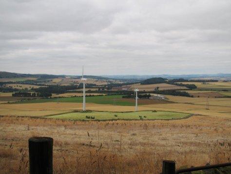 Wind turbines on Fothringham Hill