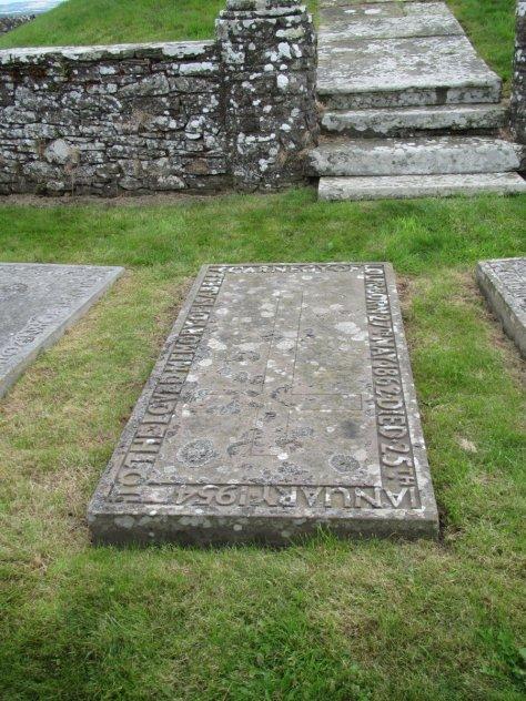 "Gravestone within precinct of Hill of Lour ""Temple"""