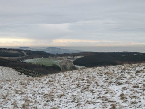 Dundee and Tay estuary from Southballo Hill