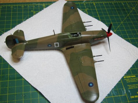 Hawker Hurricane IIC panel lines 1