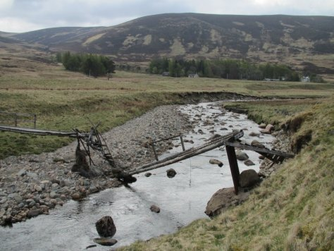 Fallen bridge, near Linns, Glen Isla