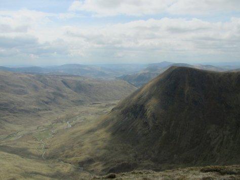 Glen Isla and Monega Hill from Druim Mor