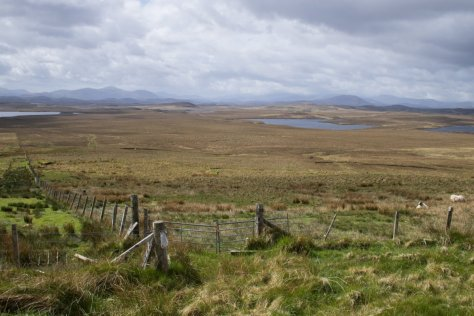 Lewis flatlands and the hills of Harris