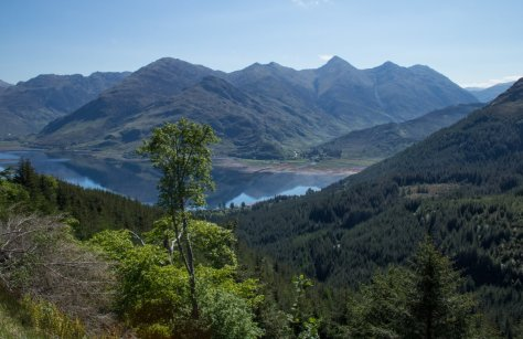 Loch Duich and Five Sisters of Kintail, from Bealach Ratagain