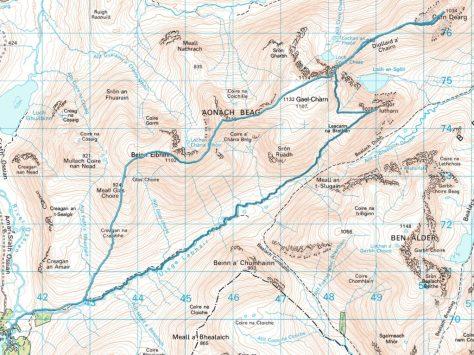 Eibhinn / Dearg ridge route