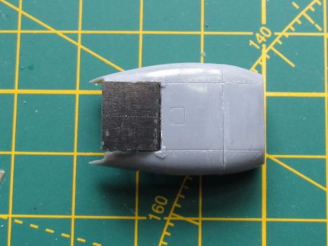 Hasegawa Hawker Hurricane radiator fairing, Eduard mod