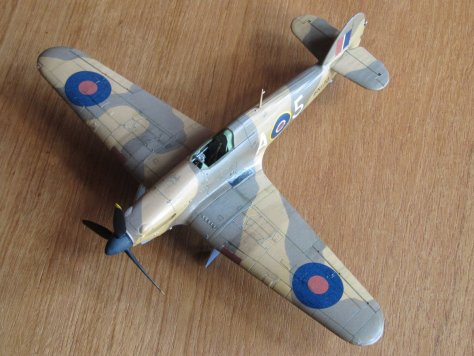 Hasegawa 1/48 Hawker Hurricane IIB panel lines and preliminary weathering