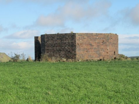 HF/DF tower blast wall, summit of Westhill