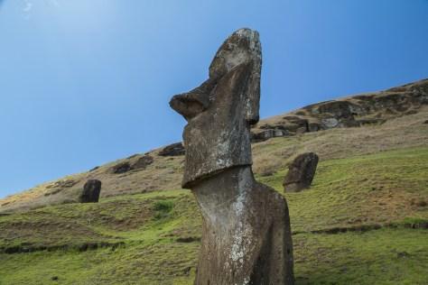 Moai, Rano Raraku quarry, Easter Island