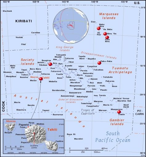 Places visited in French Polynesia