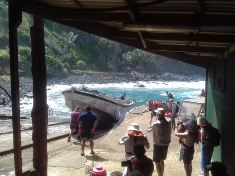 Launching the Pitcairn longboat (2)