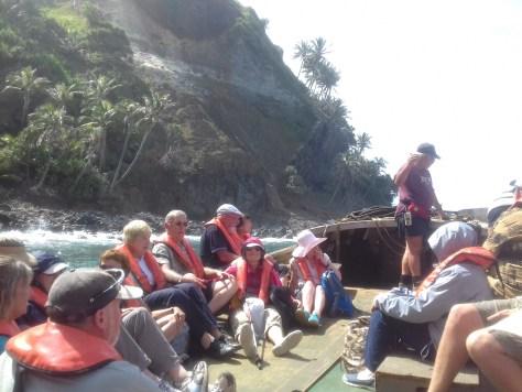 Aboard a Pitcairn longboat