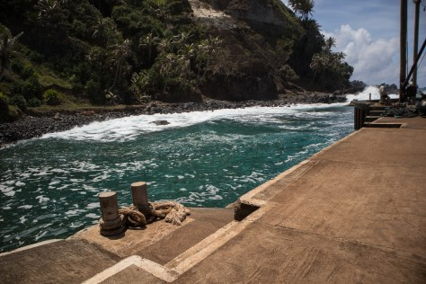Jetty at Bounty Bay, Pitcairn