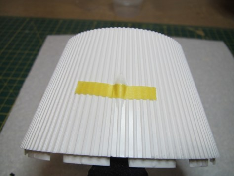 Revell 1/96 Saturn V - adding cover to retrorocket fairing on S-IVB aft interstage