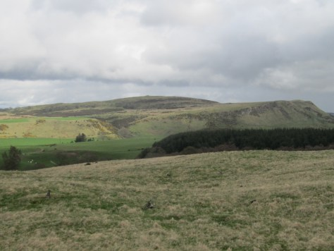 Pole Hill and Evelick Hill from Balthayock Hill