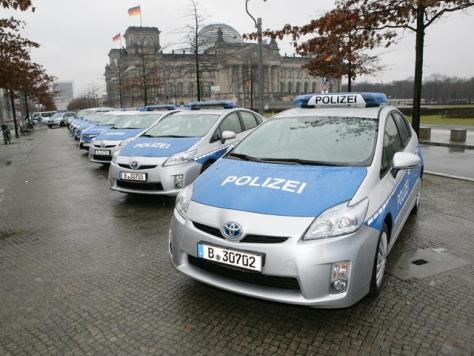 Berlin Police Priuses (not Prii)