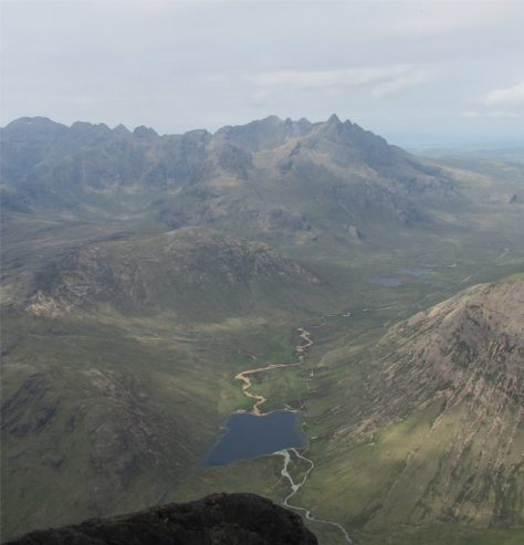 North end of Cuillin ridge from Blabheinn
