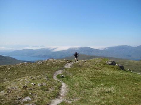 Ben Sgritheall, looking towards Skye