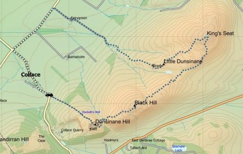 Dunsinane-Kings Seat route