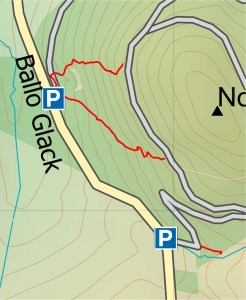 Routes from Ballo Glack on to Ballo Hills