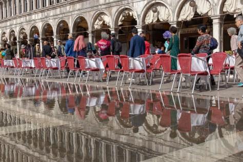 Aqua alta in Plazza San Marco, Venice