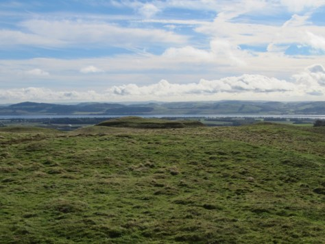View over Evelick fort to Tay Estuary from Pole Hill