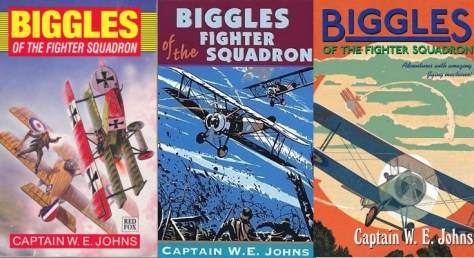 Red Fox covers of Biggles of the Fighter Squadron